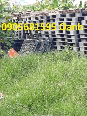 Pallet Quảng Ngãi kê kho, kê hàng KT 1200x1000x150mm màu đen giá rẻ 0905681595