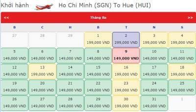 VIETJET AIR Khuyến mãi chặng Hồ Chí Minh đi Huế với giá chỉ từ 149000đ