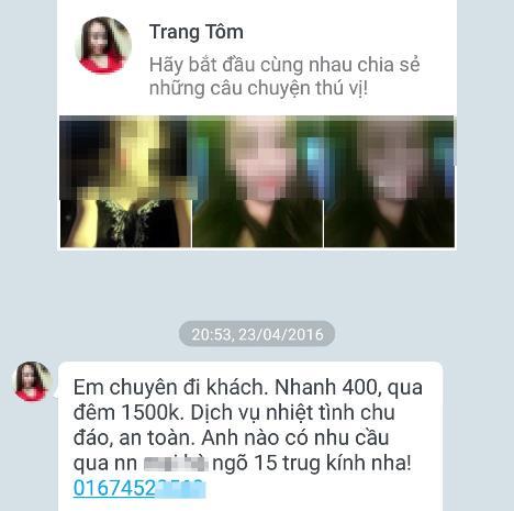 Gái gọi Trần Duy Hưng nóng bỏng trên chợ tình mạng xã hội