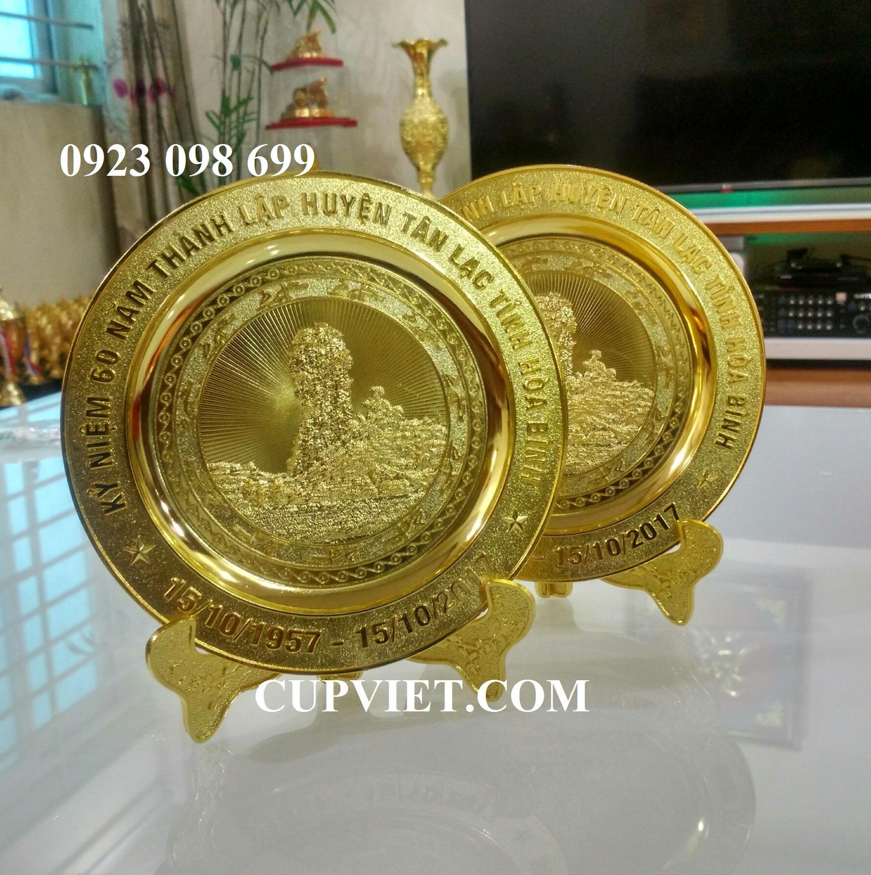 Nhận cung cấp đĩa đồng, bán quà tặng sự kiện, quà tặng doanh nhân,  biểu trưng đồng đúc