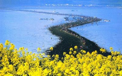 Kỳ lạ vùng biển bị chia cắt trong vài ngày ở Hàn Quốc