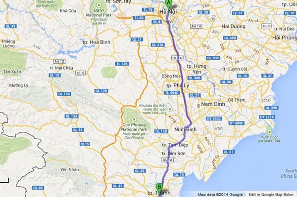 Lịch trình xe khách Hà Nội về Thanh Hóa