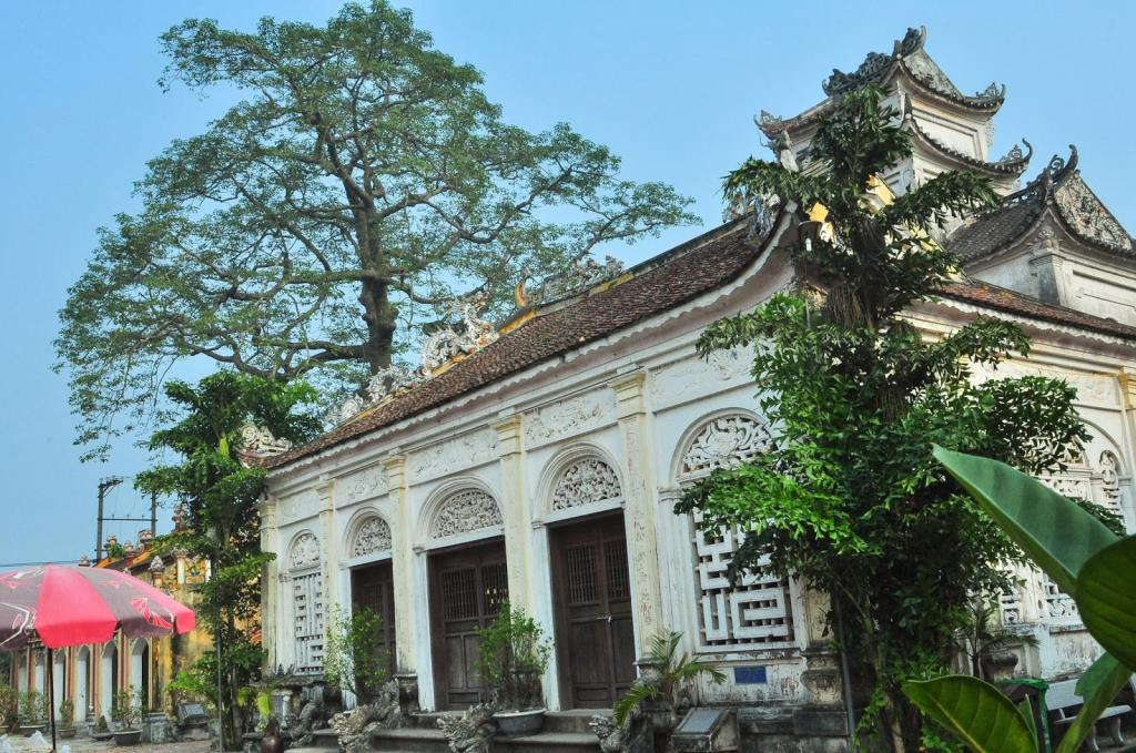 Unique hybrid ancient temple Catholic cathedral in Vietnam