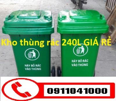 Buôn bán thùng rác nhựa 120lit, nhựa HDPE 240lit