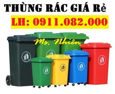 Bỏ sỉ thùng rác giá thương mại- thùng rác 120L 240L 660L giá rẻ tại đồng tháp- lh 0911082000