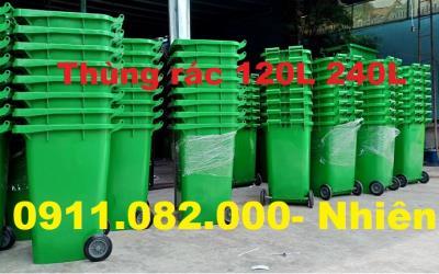 Cần thơ- điểm bán thùng rác 240 lít giá rẻ- thùng rác chất lượng màu xanh, cam- lh 0911082000