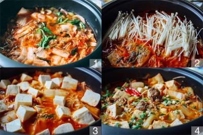 Hướng dẫn nấu Canh Kim Chi Thịt Bò ngon chuẩn vị Hàn Quốc